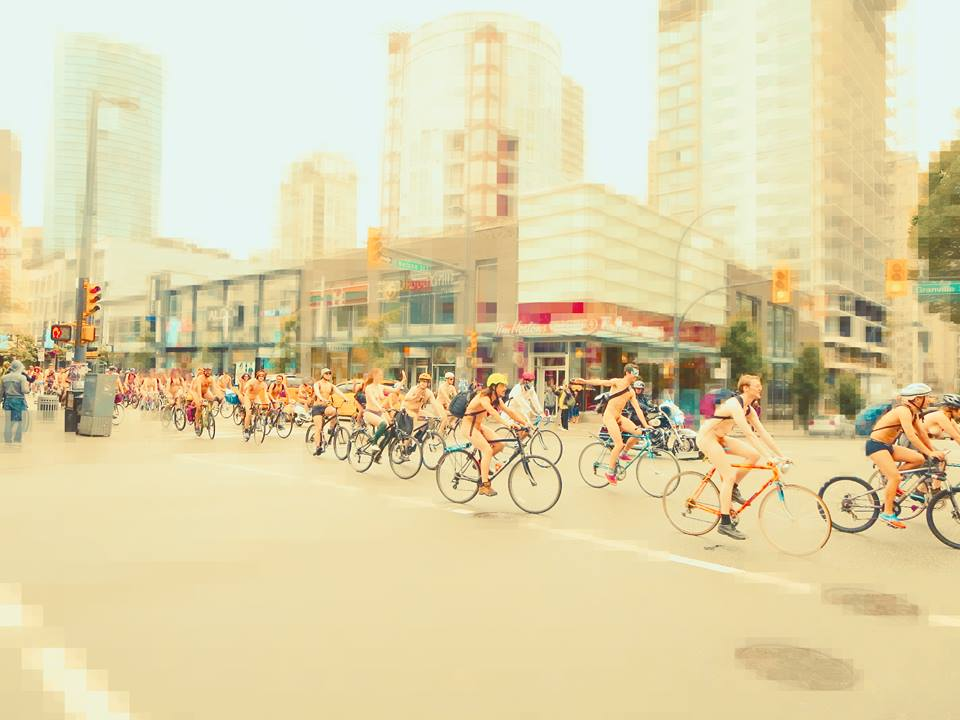 Bike in the buff as World Naked Bike Ride day hits Vancouver