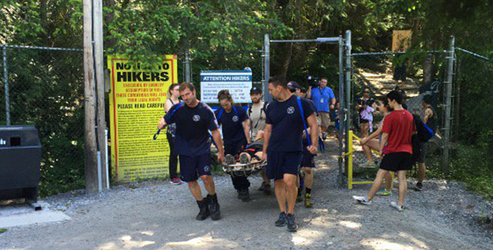 Hikers rescued from Grouse Grind as temperatures soar