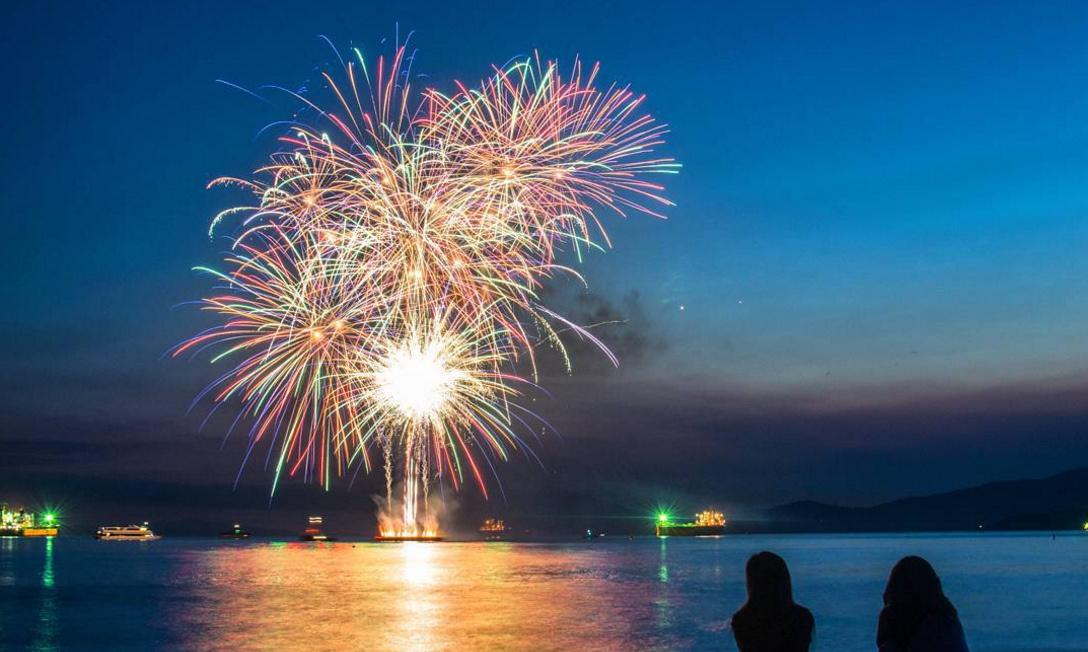 Vancouver fireworks english bay