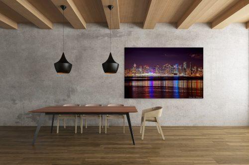 Vancouver Skyline / Night by Calvin Lam