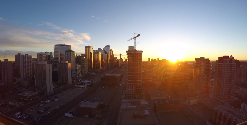Beautiful time lapse video of a spring sunrise in Calgary