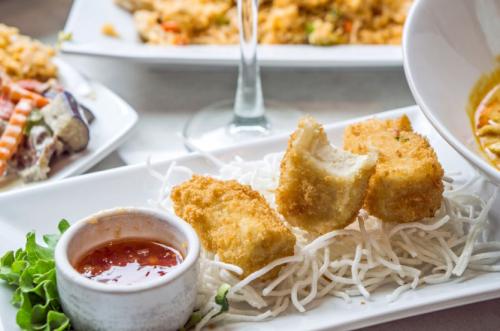 Crispy tofu / Pink Elephant Thai