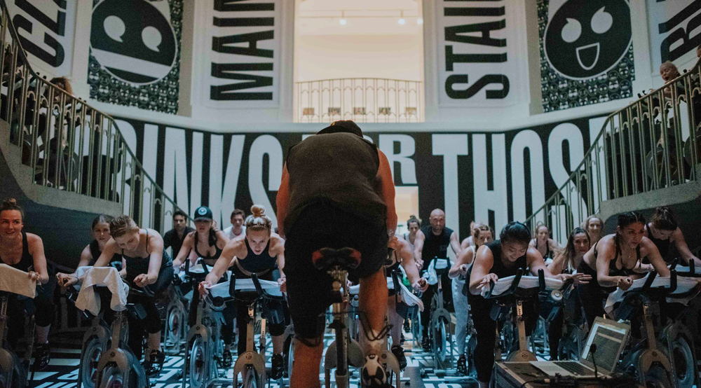 Ride Cycle Club spin class and Slow Jam Sundays invade Vancouver Art Gallery for sweaty fundraiser (PHOTOS)
