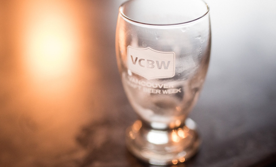 Vancouver craft beer week glass 2016