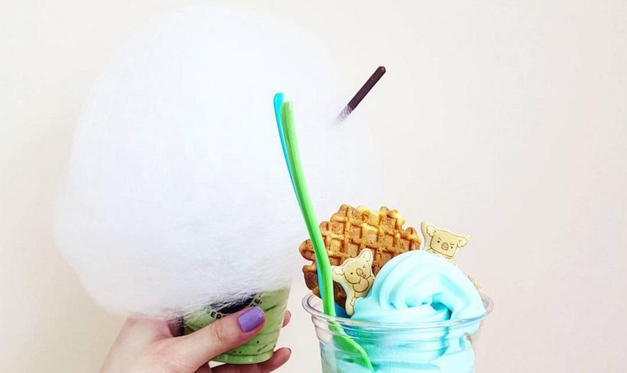 Dolce21 cotton candy ice cream toronto