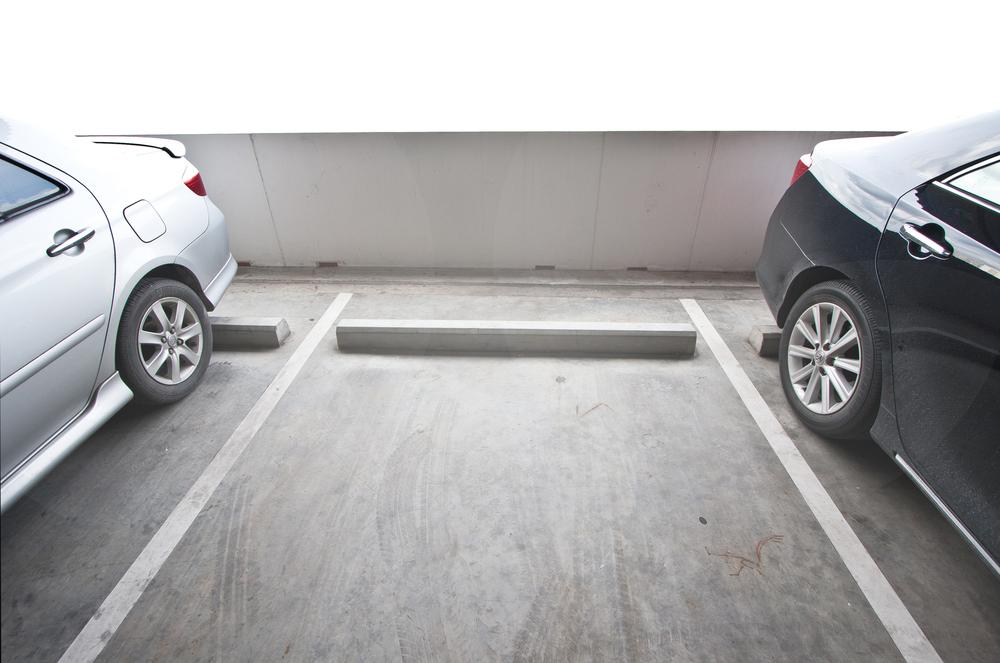 Parking space empty