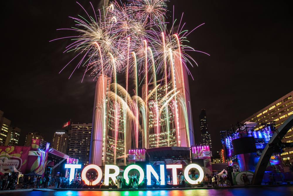 Nathan phillips square fireworks