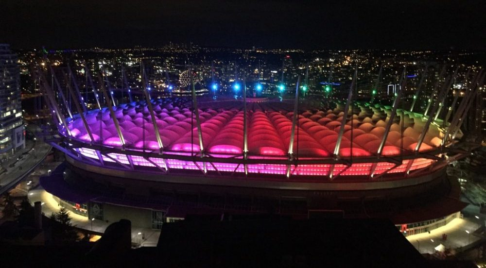 Vancouver landmarks lit up in rainbow colours to honour Orlando victims (PHOTOS)