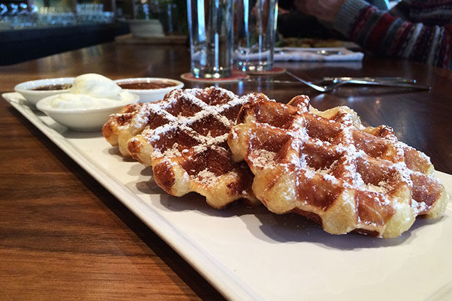 Brunch waffles (Jess Fleming / Daily Hive)