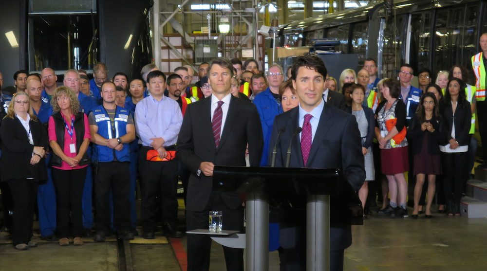 Trudeau promises 50 new SkyTrain cars, 3rd SeaBus in $740-million transit announcement