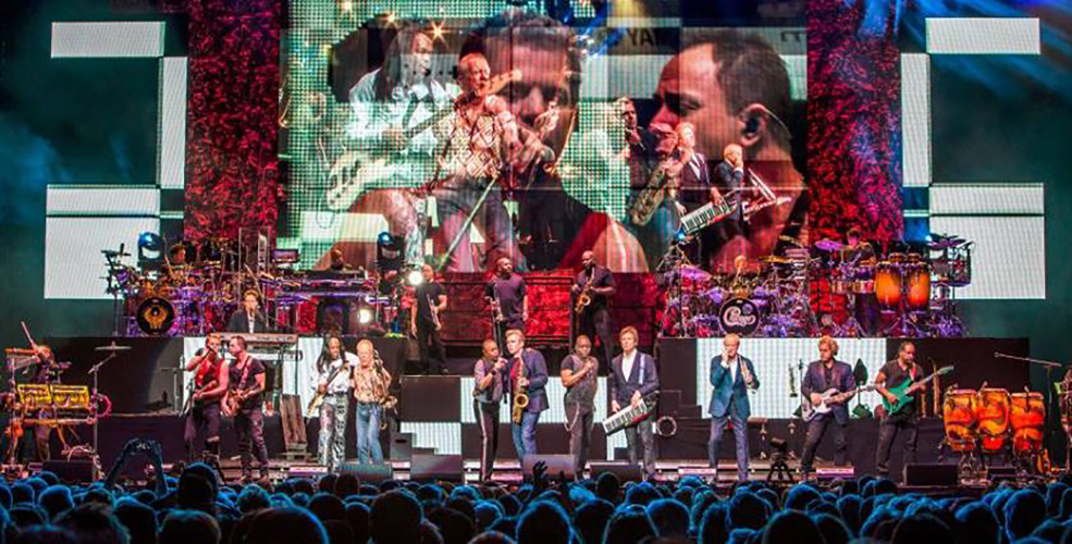 Chicago and Earth, Wind & Fire Montreal 2016 concert at the Bell Centre