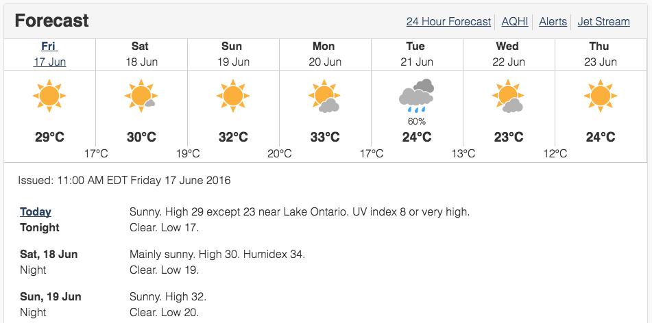 Toronto Hot Weekend