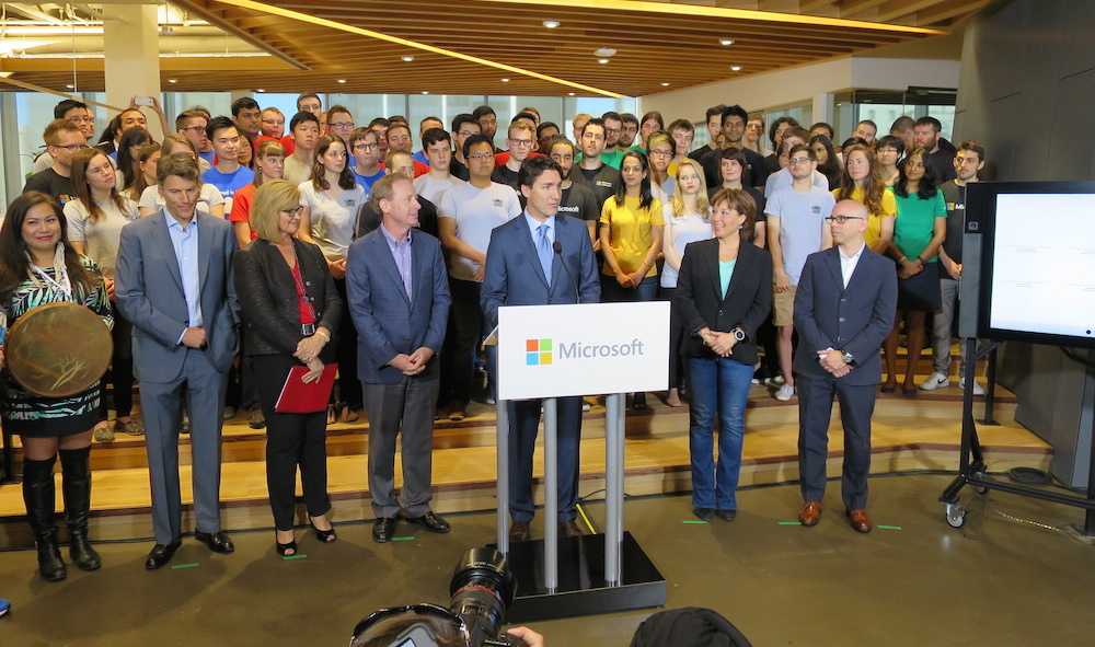 Trudeau helps Microsoft open new downtown Vancouver office