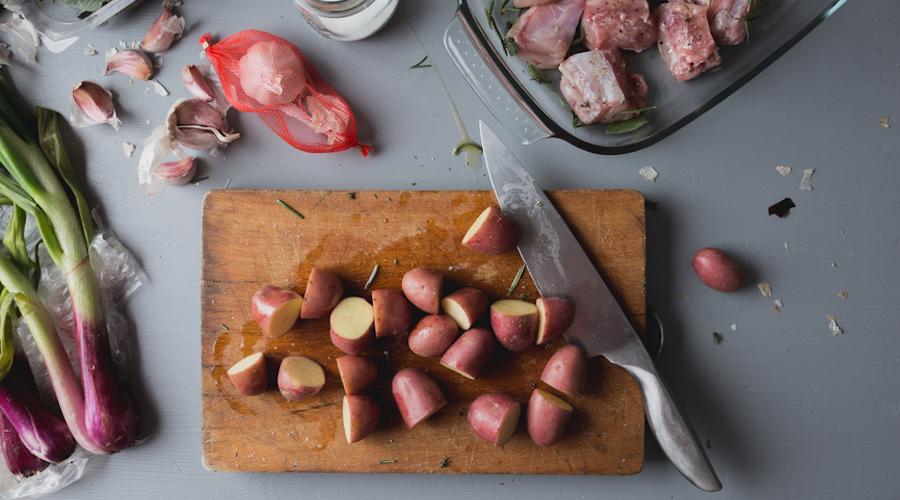Cooking ingredients table stocksy