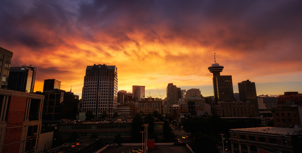 19 photos of Friday night's rainbow and fiery sunset in Vancouver