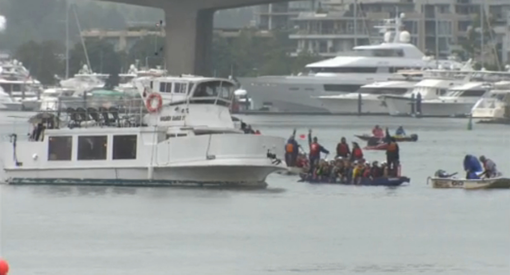 Charter yacht disrupts Vancouver Dragon Boat race with dangerous maneuver (VIDEO)