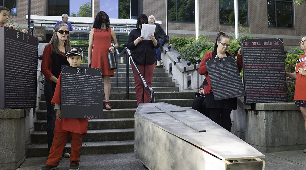 Vancouver parents hold funeral protest over school closures