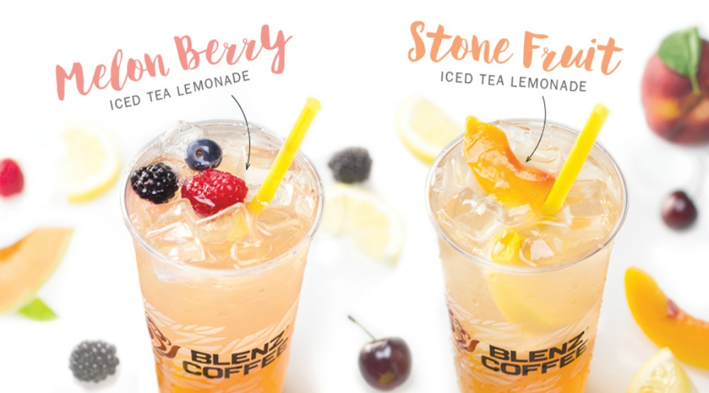 Sip on these 2 new iced tea and lemonade drinks at Blenz starting today