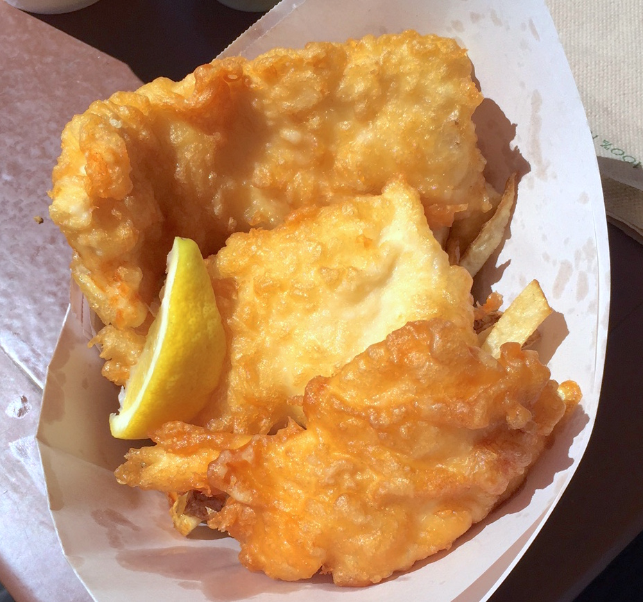 Fish & Chips at Pajo's at Steveston Village (Lindsay William-Ross/Daily Hive)