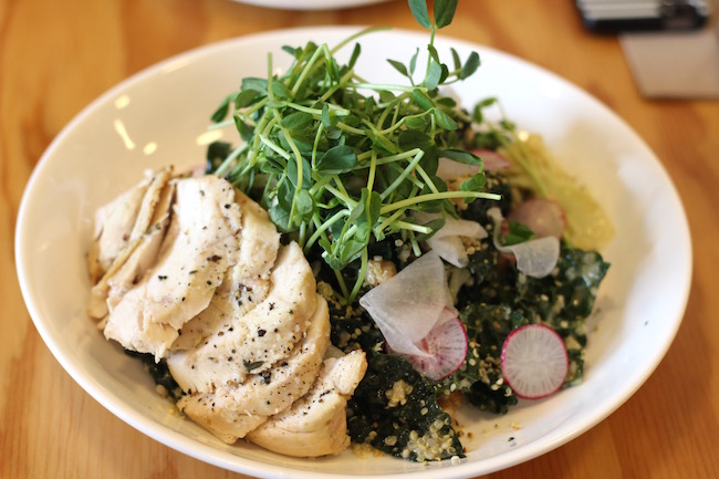 Kale and Cauliflower Salad with chicken (Lindsay William-Ross / Daily Hive)