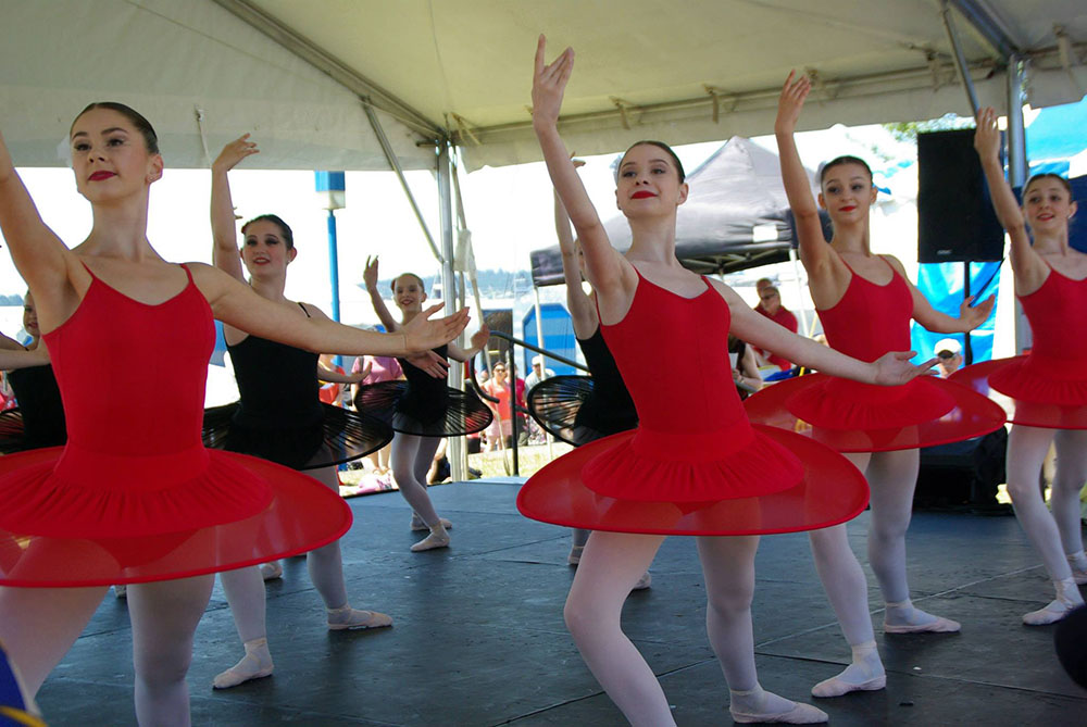 Ballet dancers at Canada Day at Waterfront Park in 2015 (North Vancouver Canada Day Celebrations at Waterfront Park/Facebook)