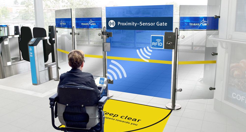 New SkyTrain fare gates with long-range sensors to be installed for disabled passengers