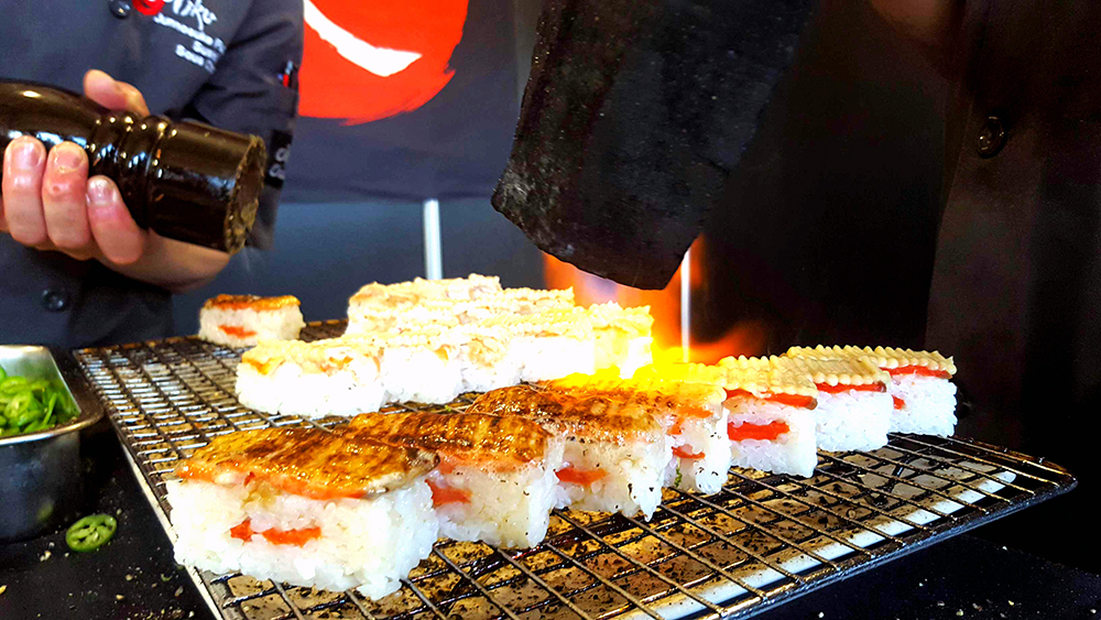 Taste of Toronto Miku Restaurant aburi oshi sushi