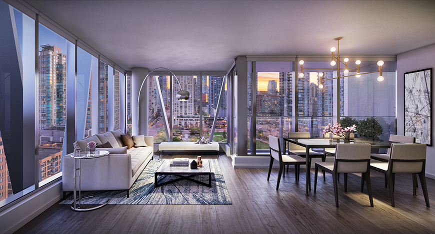 New luxury tower offers style and space in Yaletown