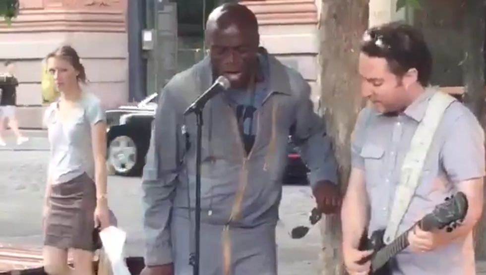 A Montreal busker gets surprise of a lifetime from Seal (VIDEO)