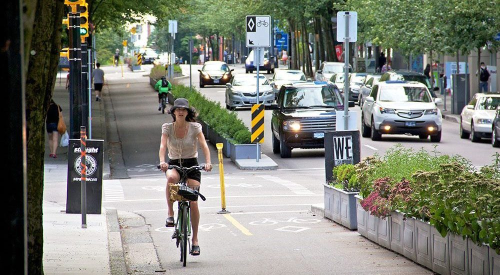 BC government announces new funding for downtown Vancouver bike lanes
