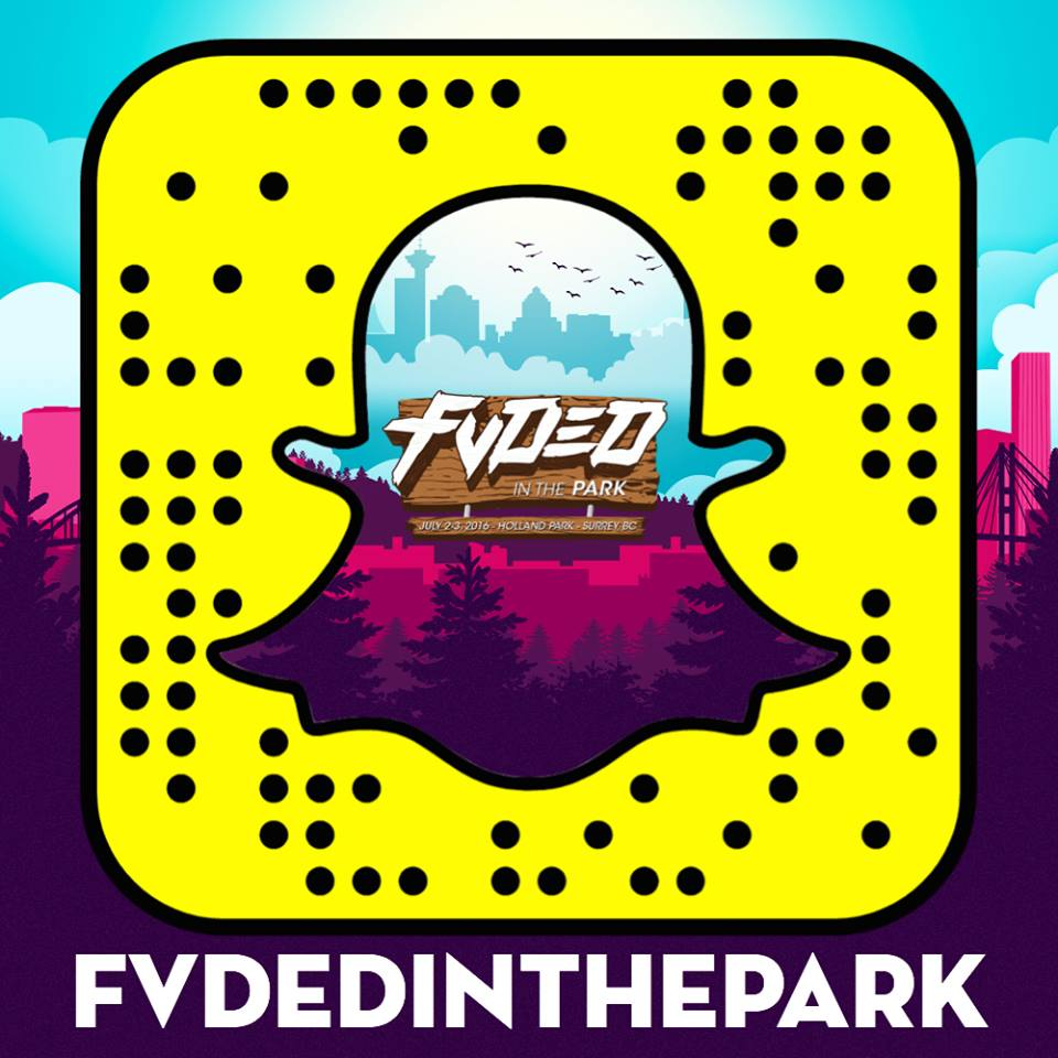 Fvded in the park snapchat