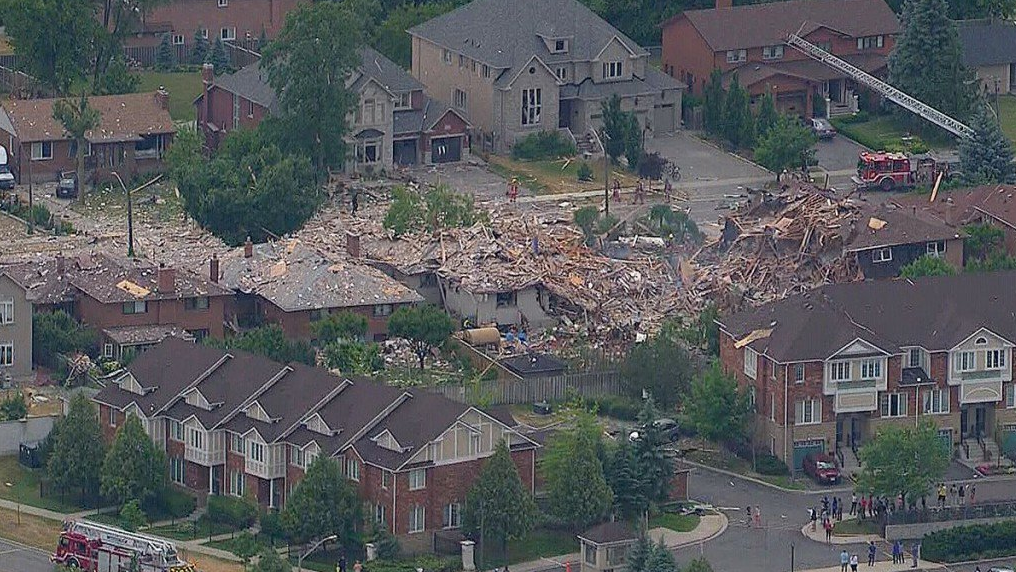 Enormous Mississauga explosion destroys house, rattles neighbourhood