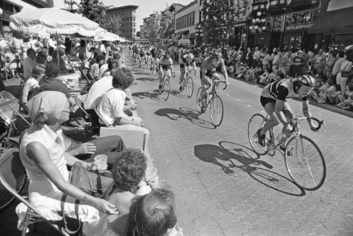 August 2, 1977 -- Gastown Grand Prix bicycle race (Photo by John Denniston)