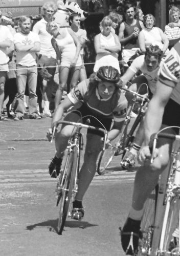 The great Dawne Deeley on her way to finishing as top woman in the 1979 Gastown Grand Prix. (Photo by Lorne Atkinson)