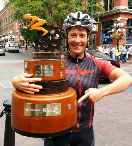 The great Gina Grain has three name plates on the women's trophy, making her the co-record holder with Verna Buhler.