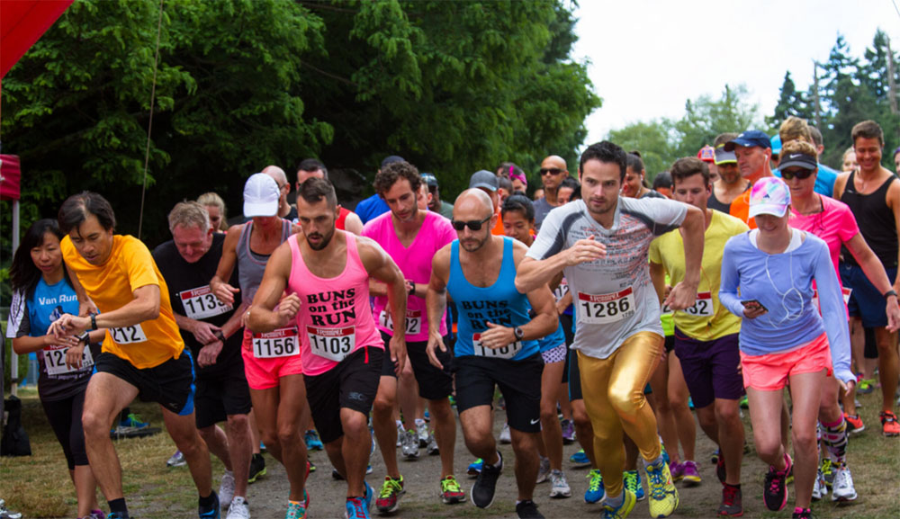 Some runners meanwhile are aiming for a personal best at Pride Run and Walk (Vancouver Frontrunners)