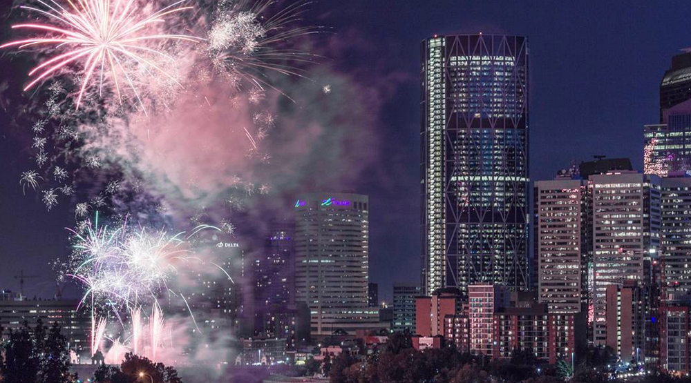Go for a late skate on New Year's Eve at Olympic Plaza before the midnight fireworks
