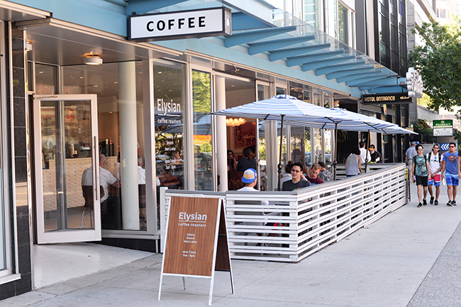 Elysian Coffee at The Burrard Hotel (Jess Fleming / Daily Hive)
