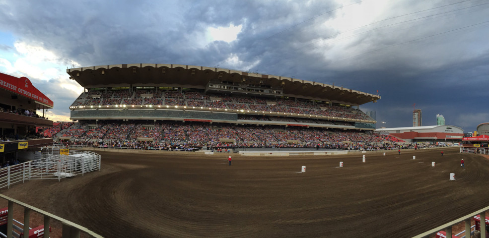The Grandstand at the Stampede