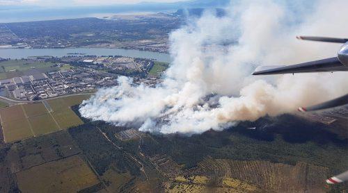 burns bog fire delta