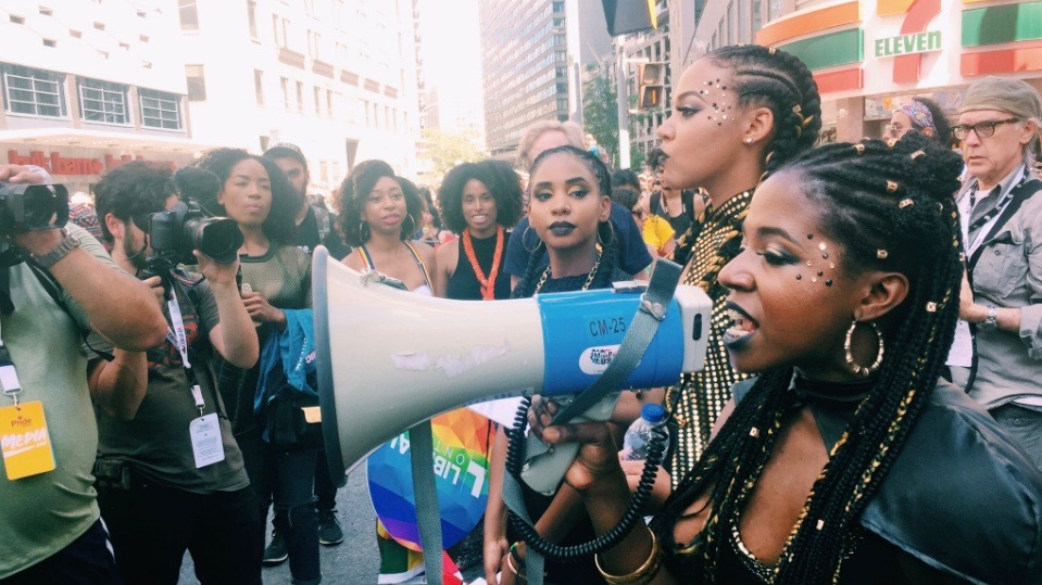 Black Lives Matter protest stops Pride Parade in its tracks
