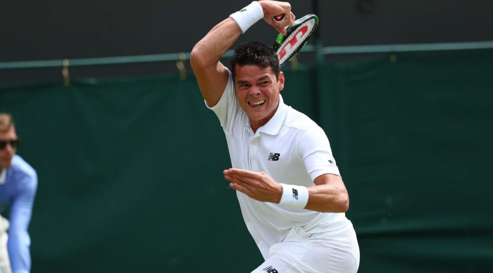Milos Raonic comes back to win 5-set thriller, advances to quarters at Wimbledon