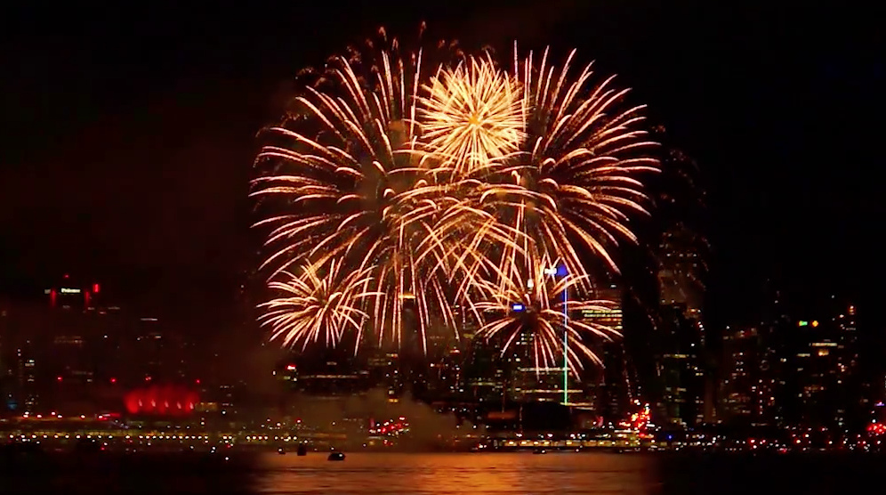 Vancouver canada day fireworks 20161