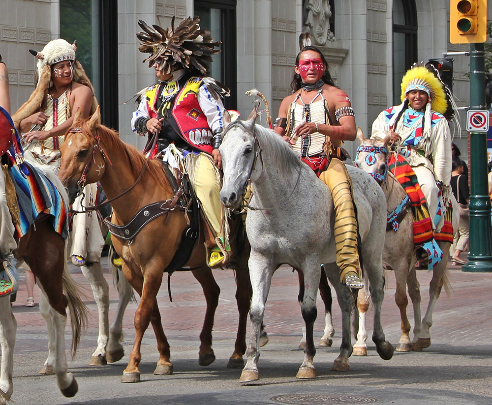 First Nations members at the Calgary Stampede Parade (Petra Koenig/Flickr)