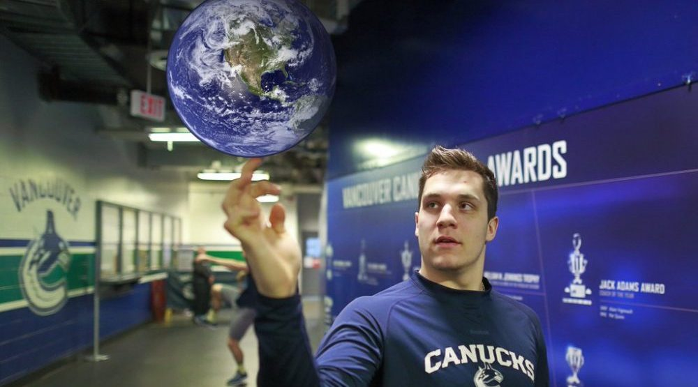 Blue and very green: Canucks win Environmental Innovator of the Year Award