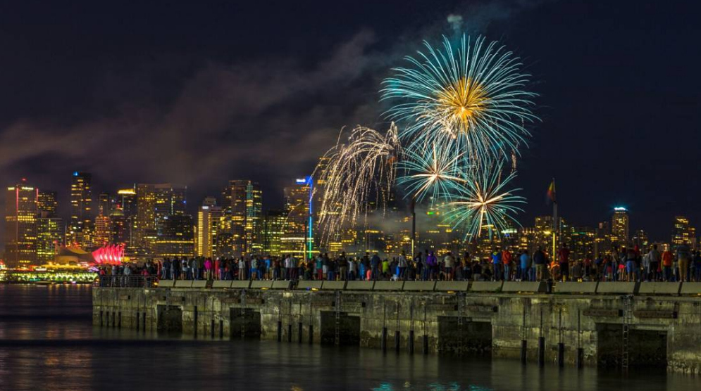 Vancouver fireworks coal harbour canada day