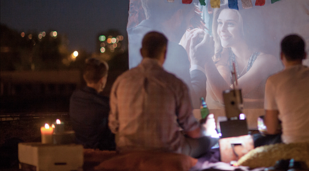 Montreal is screening movies on a giant screen in the park