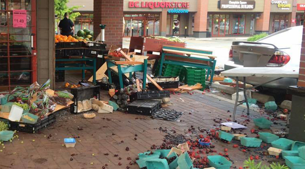 Car drives into South Vancouver grocery store (PHOTOS)