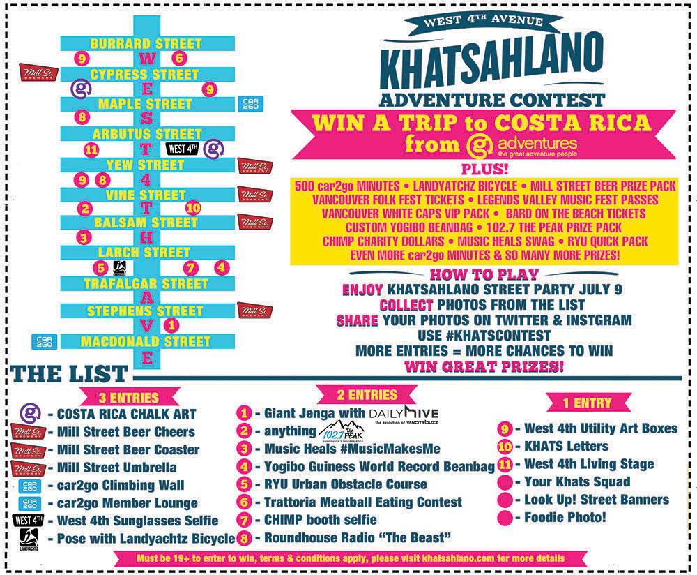 Khatsahlano Street Party Adventure Contest 2016 (Khatsahlano Street Party)