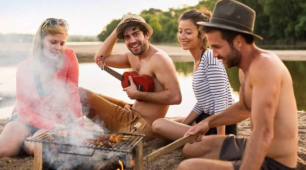 Bbq on the beach jack frog shutterstock